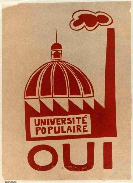 ancienne affiche d universite populaire