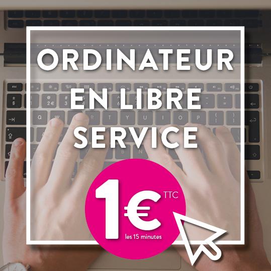 Ordinateur en libre service